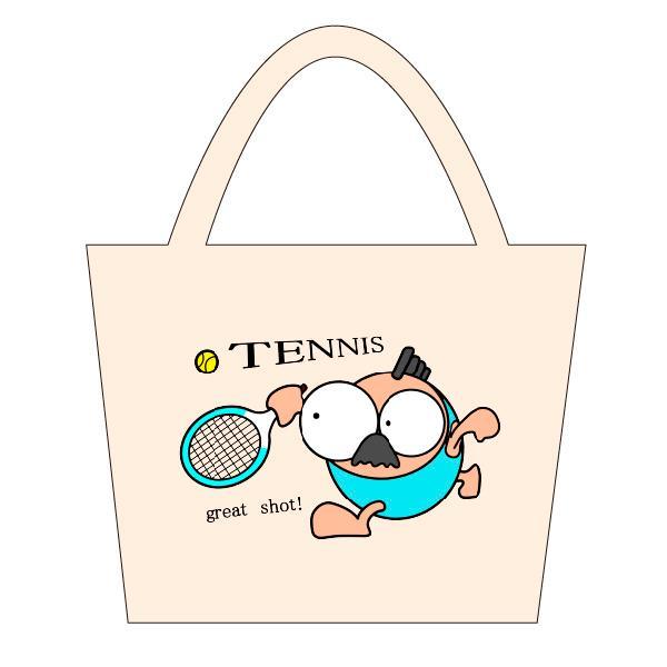 テニス トートバックS マリオッチオリジナルイラスト|kuriten|02