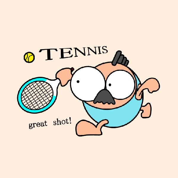 テニス トートバックS マリオッチオリジナルイラスト|kuriten|03