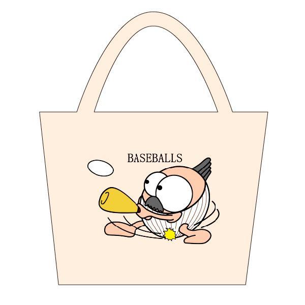 野球 トートバックS マリオッチオリジナルイラスト kuriten 02