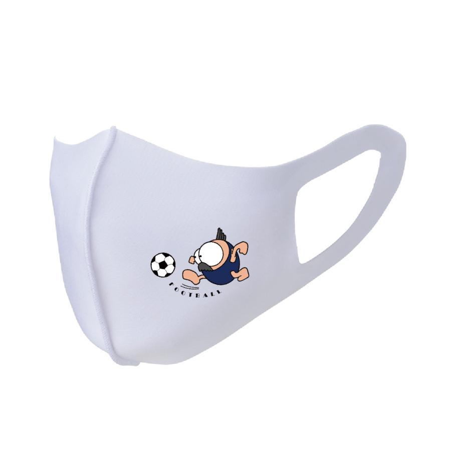洗って何度でも使える カバー マスク ユニーク な スポーツキャラクター イラスト プリント サッカー