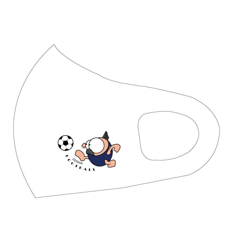 洗って何度でも使える クリエーターズマスク ユニーク な スポーツキャラクター イラスト プリント サッカー|kuriten|08
