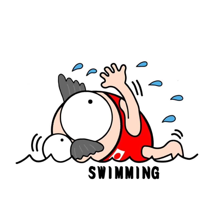 洗って何度でも使える クリエーターズマスク ユニーク な スポーツキャラクター イラスト プリント 水泳 kuriten 02