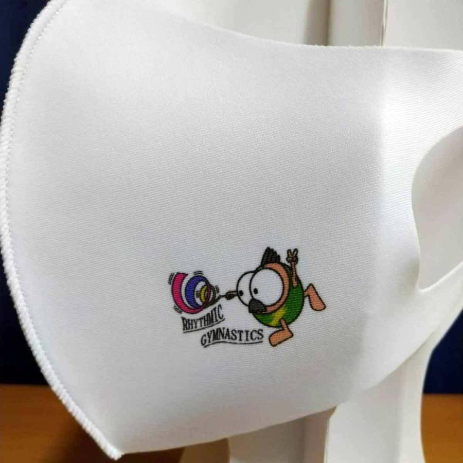洗って何度でも使える クリエーターズマスク ユニーク な スポーツキャラクター イラスト プリント 新体操 kuriten 03