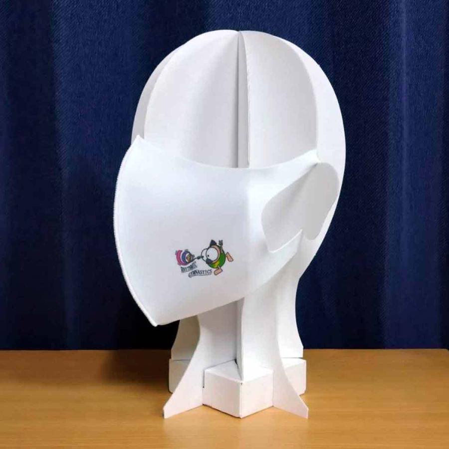 洗って何度でも使える クリエーターズマスク ユニーク な スポーツキャラクター イラスト プリント 新体操 kuriten 04