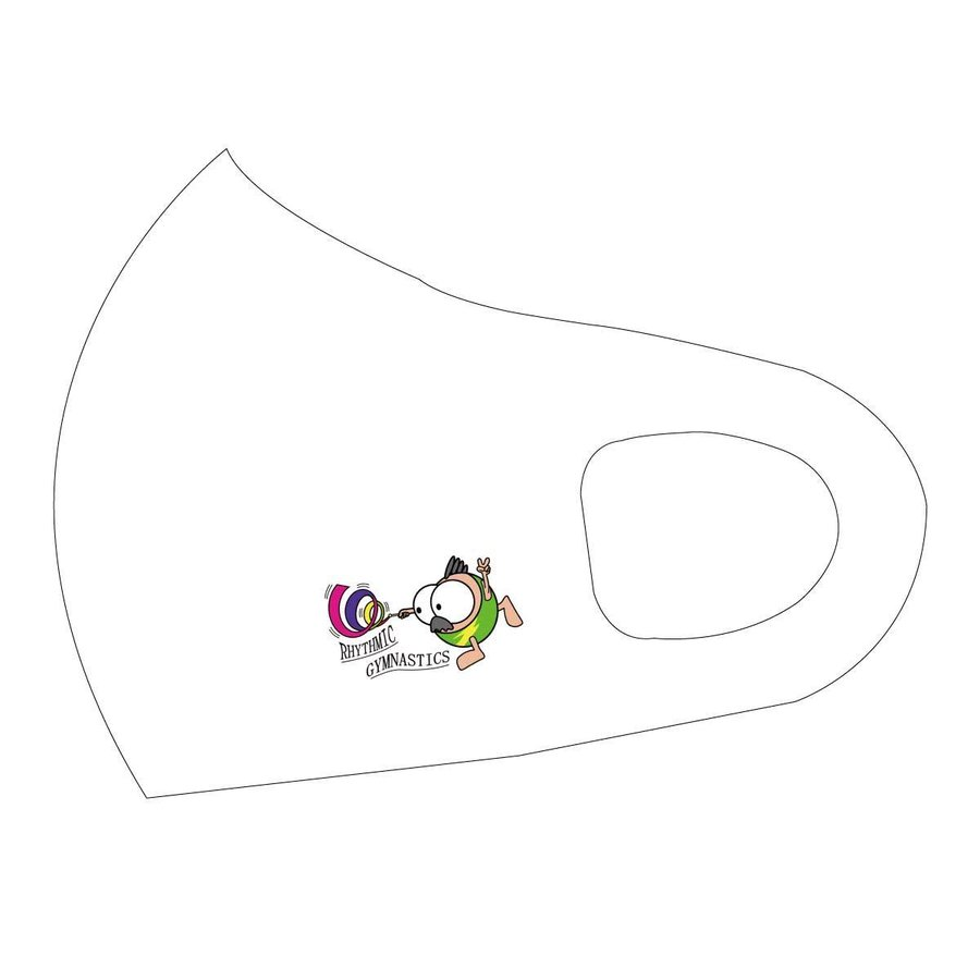 洗って何度でも使える クリエーターズマスク ユニーク な スポーツキャラクター イラスト プリント 新体操 kuriten 08