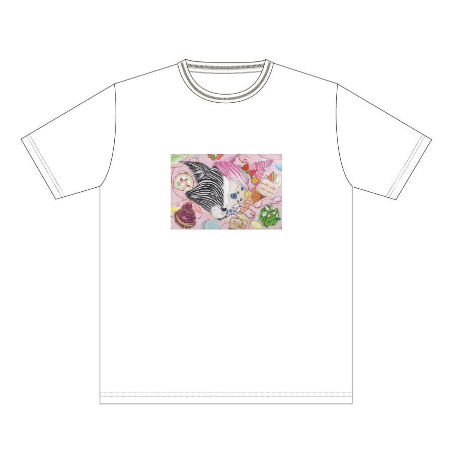 Metamorphose 白 おかしなせかい イラストプリント 半袖 Tシャツ|kuriten|02