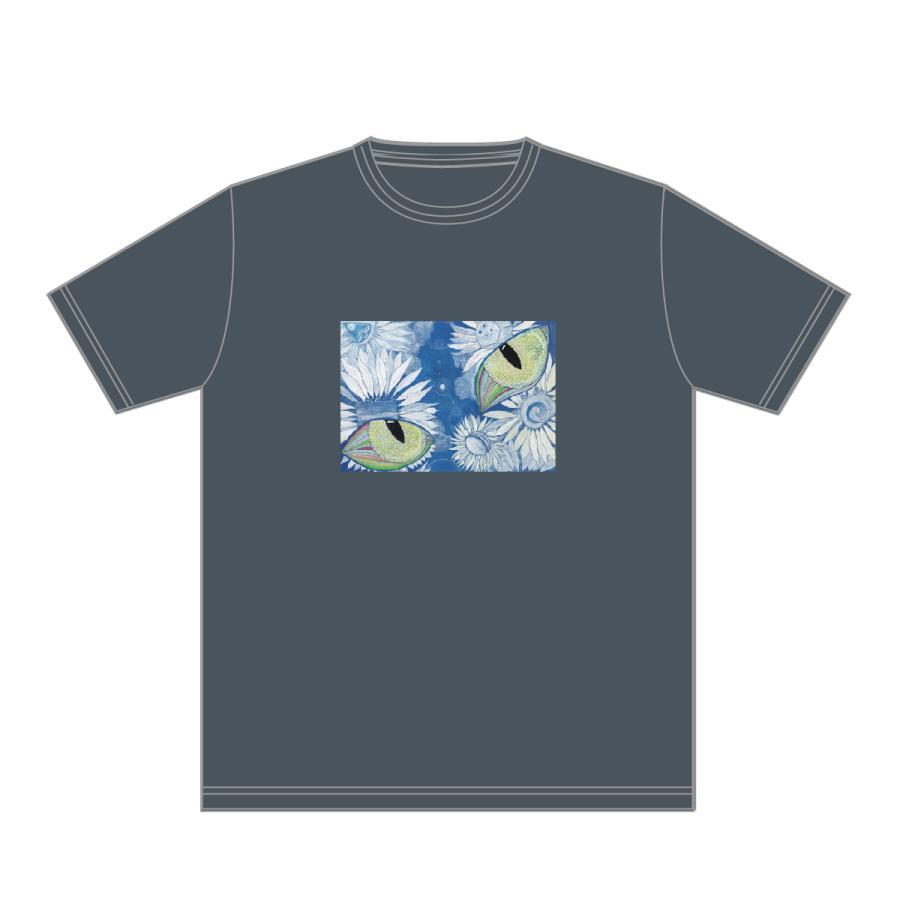 あの空へ デニムカラー おかしなせかい イラストプリント 半袖 Tシャツ kuriten 02