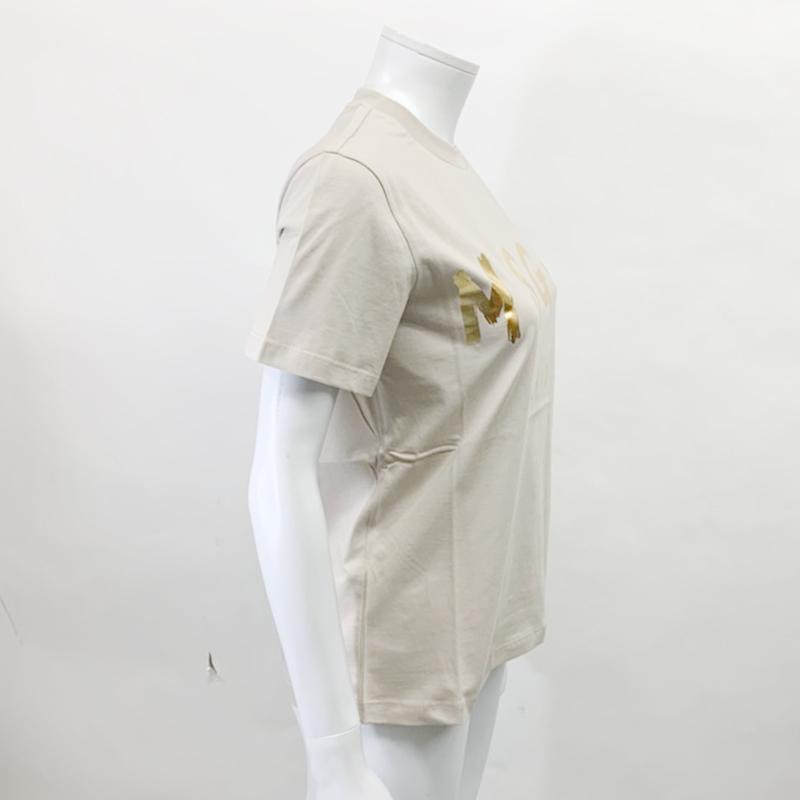 MSGM エムエスジーエム / 日本限定モデル (ベージュ×ゴールド) MDM60J / シャツ レディース Tシャツ 筆書き ロゴ / おしゃれ kuriya-house 03