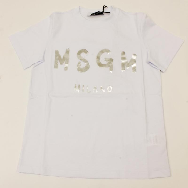 MSGM エムエスジーエム / 日本限定モデル (ホワイト×シルバー) MDM60J / シャツ レディース Tシャツ 筆書き ロゴ / おしゃれ kuriya-house 05