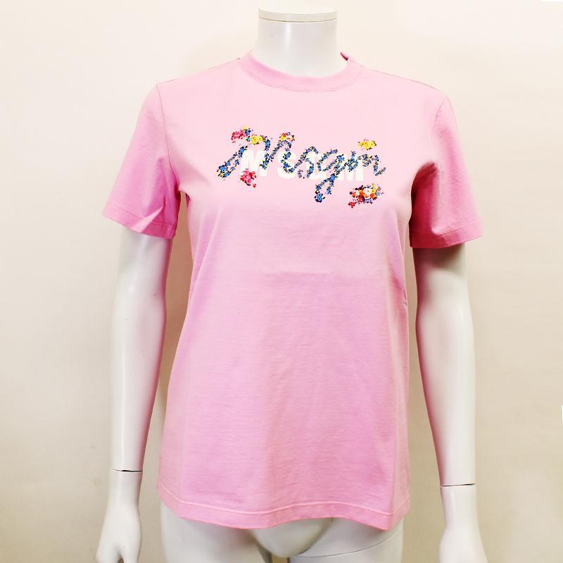 MSGM エムエスジーエム / フローラル 3041MDM170 ピンク / シャツ レディース Tシャツ 花柄 ロゴ 半袖 / 2021春夏新作|kuriya-house|02