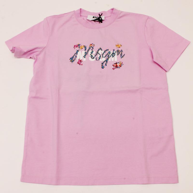 MSGM エムエスジーエム / フローラル 3041MDM170 ピンク / シャツ レディース Tシャツ 花柄 ロゴ 半袖 / 2021春夏新作|kuriya-house|05