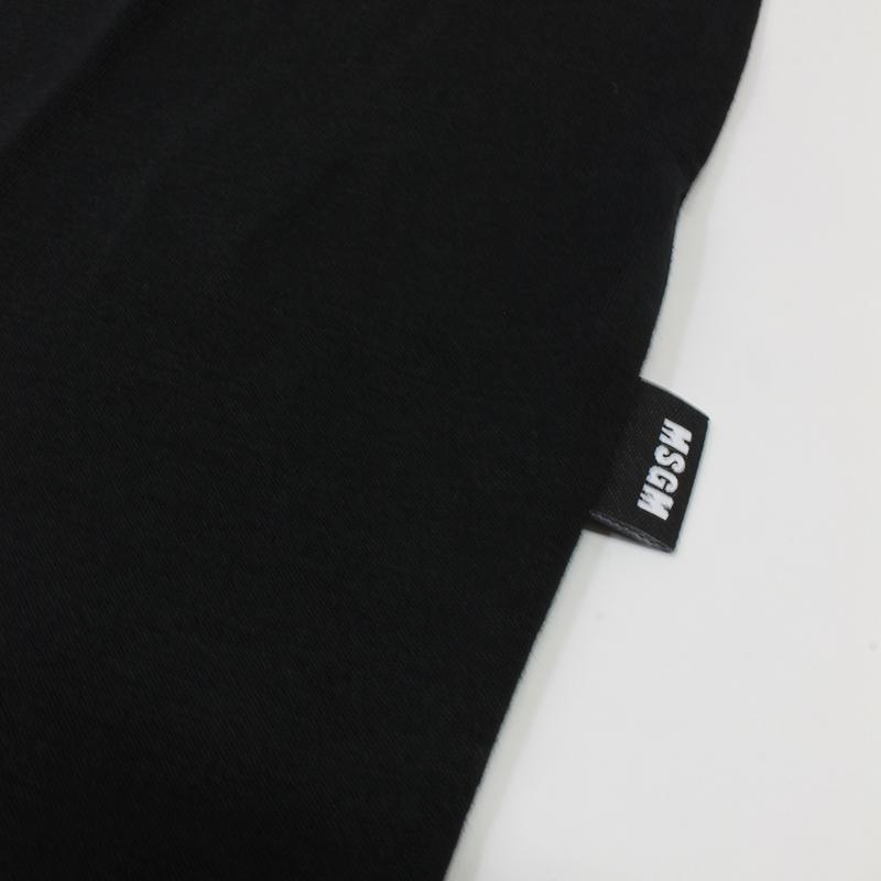 MSGM エムエスジーエム / 3040MM97 / シャツ / メンズ Tシャツ ロゴTシャツ / おしゃれ / 黒 ブラック / 服 半袖 ペイント ロゴT kuriya-house 02