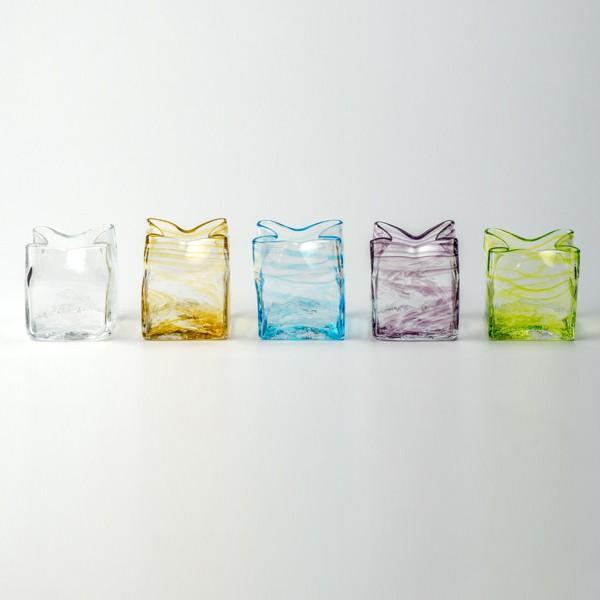スクエア花器 アンバー 花瓶 花器 ガラス 記念品 お祝い プレゼント 黒壁 kurokabe 03