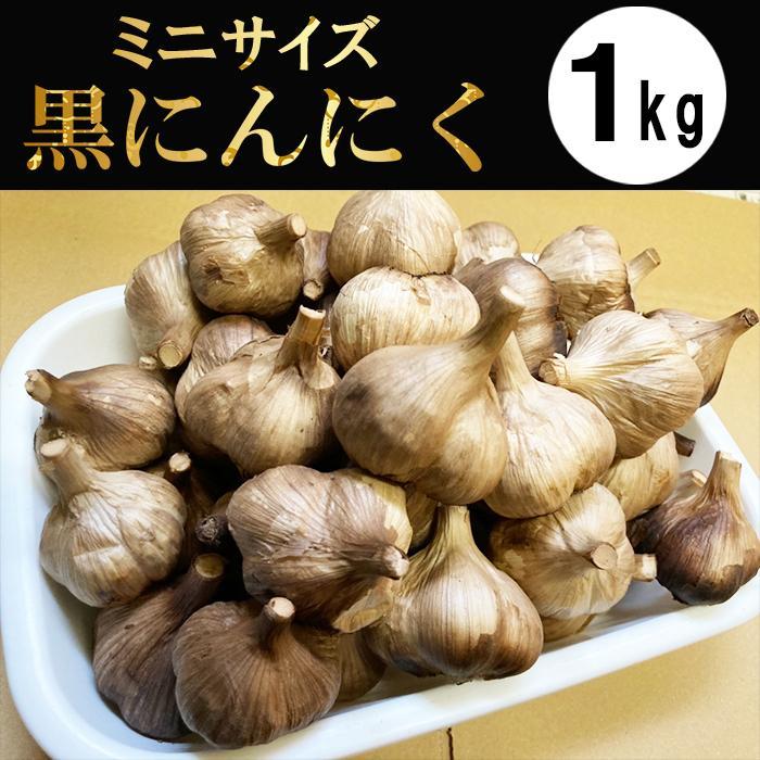 黒にんにく 青森産 小粒 波動熟成 1kg kuroninnikutonya