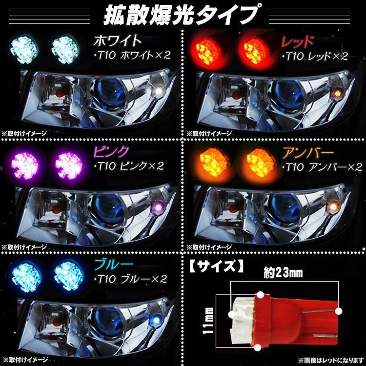 T10 LED バルブ 9連 ポジション球 車幅灯 2個セット ルームランプ ナンバー灯 ウェッジ球 など|kuruma-com2006|02