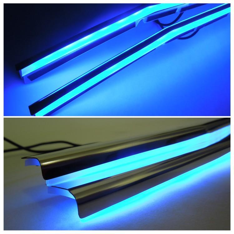 ヴォクシー80系 LED フロントバンパー グリルガーニッシュ カスタムパーツ アクセサリー【SALE】|kuruma-com2006|05