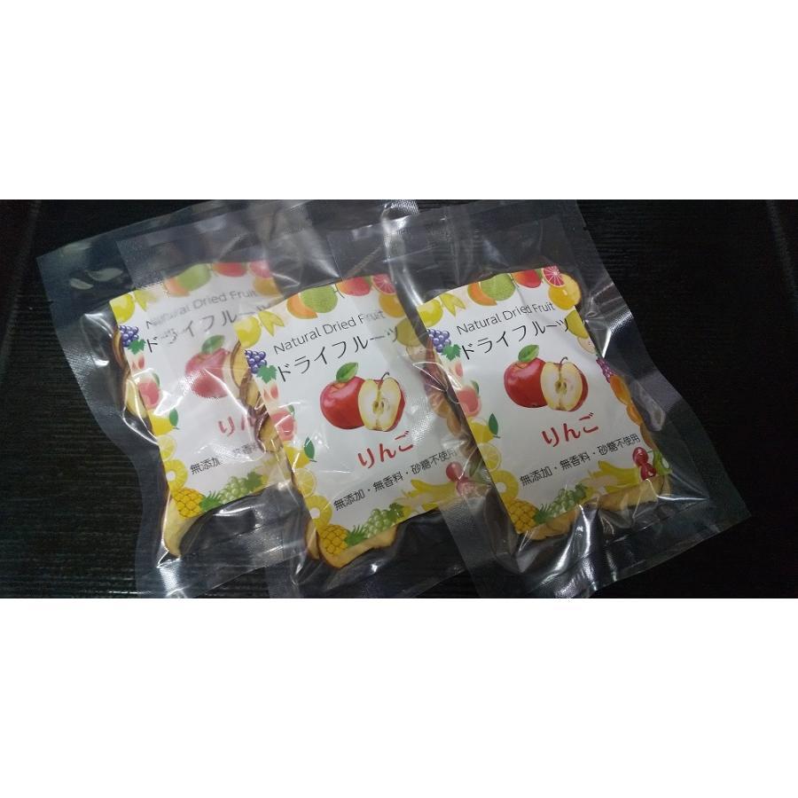ドライフルーツ りんご 国産 無添加 無香料 砂糖不使用 保存料不使用 自然食 保存食 乾燥果実 リンゴ アップル 20g x 3袋|kushitei