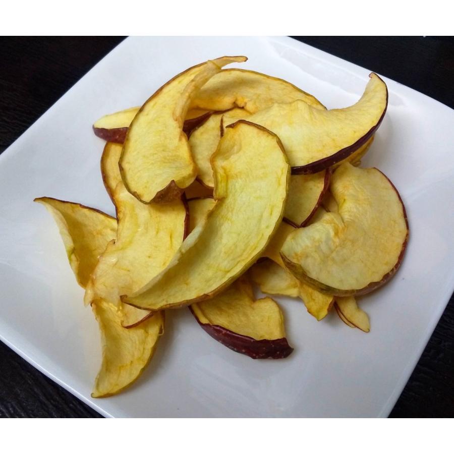 ドライフルーツ りんご 国産 無添加 無香料 砂糖不使用 保存料不使用 自然食 保存食 乾燥果実 リンゴ アップル 20g x 3袋|kushitei|04