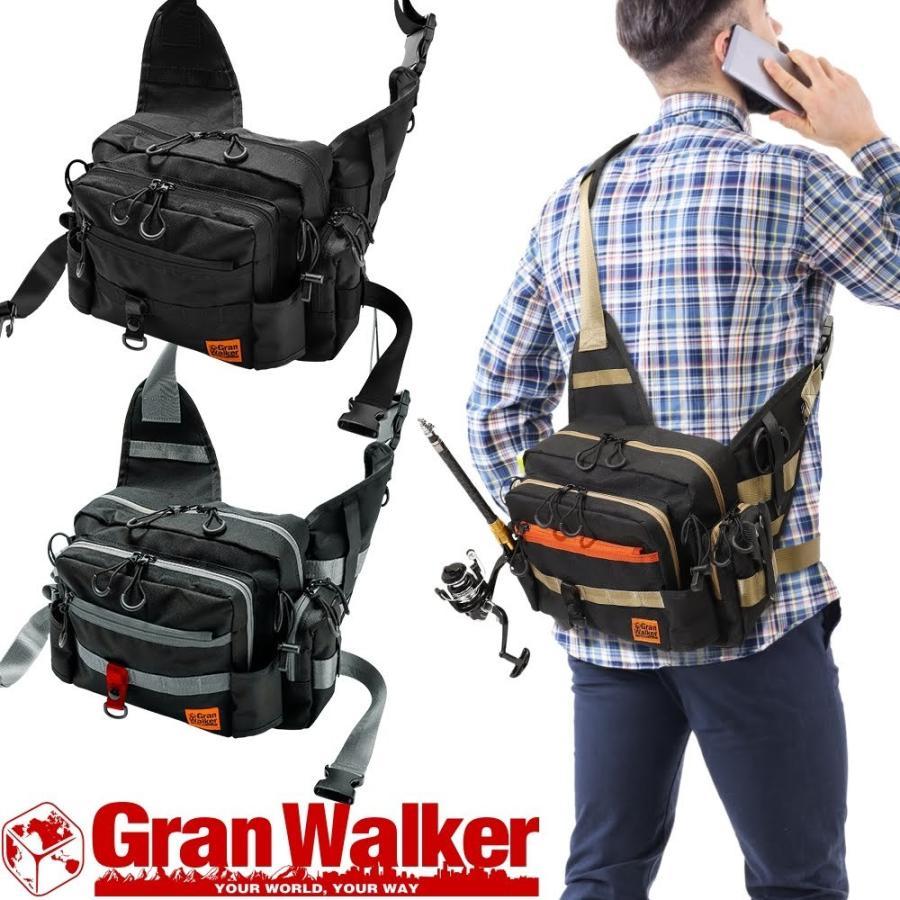 超目玉 2020 新作 釣り カバン 鞄 バッグ ショルダーバッグ グランウォーカー タックルバッグ アウトドア ワンショルダーバッグ フィッシングバッグ