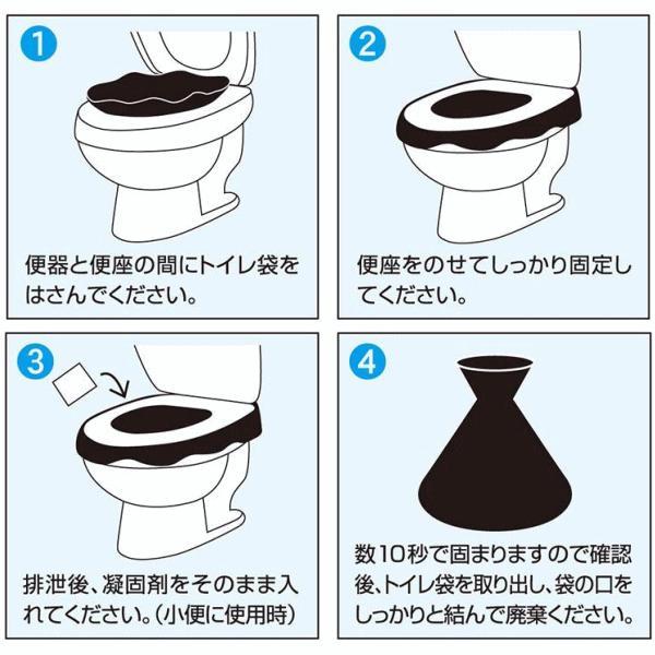 【倍!倍!ストア 誰でも+5%】非常用簡易トイレ セルレット 50回分&処理袋付き /凝固脱臭剤 / 処理袋 / 後藤(ゴトウ) kusurino-wakaba 04