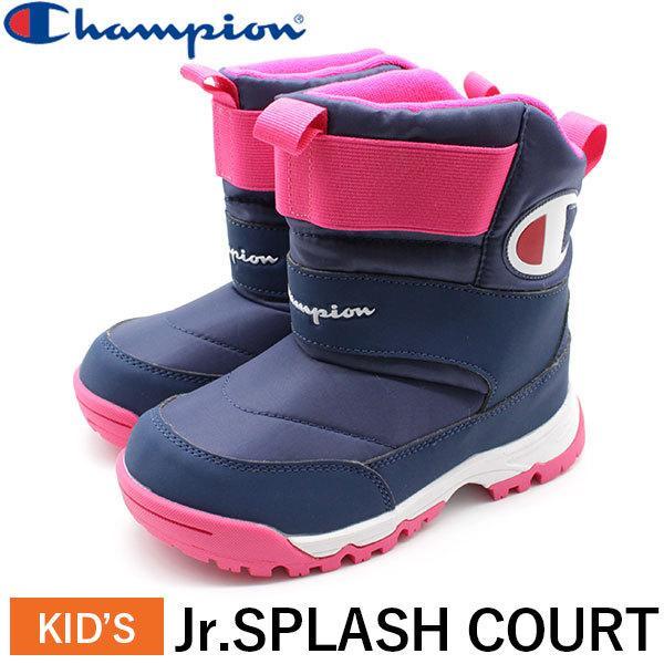 チャンピオン ブーツ キッズ 子供 靴 ウィンターブーツ ネイビー Champion ロゴ 防水 訳あり CP Jr.SPLASH 70%OFFアウトレット COURT JSC014W