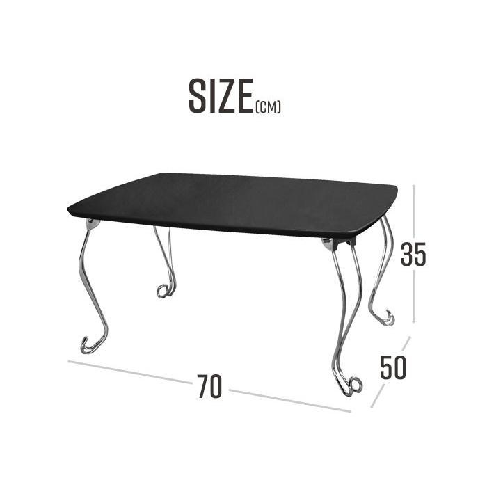 折れ脚テーブル コンパクト 猫脚 ブル おしゃれ 机 折りたたみテーブル 木製 作業台 小型 ウッド 1人暮らし ローテーブル 鏡面 座卓|kutsurogu|05