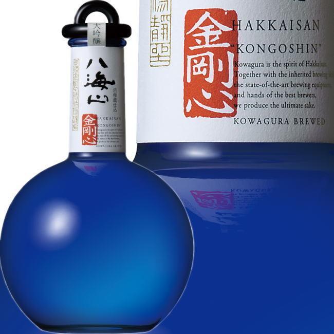 八海山 金剛心 純米大吟醸 原酒 800ml  黒色瓶【最高級 日本酒 を贈る】2021年2月雪室貯蔵|kuwaharasyoten|02
