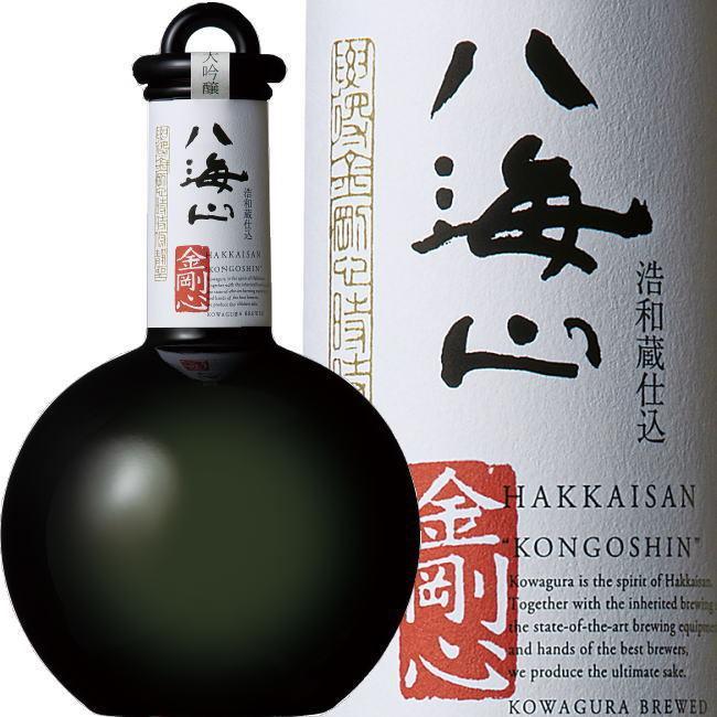 八海山 金剛心 純米大吟醸 原酒 800ml  黒色瓶【最高級 日本酒 を贈る】2021年2月雪室貯蔵|kuwaharasyoten|07