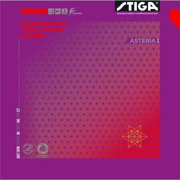 STIGA(スティガ) 裏ソフトラバー ASTERIA S(アステリア S) 赤 特厚