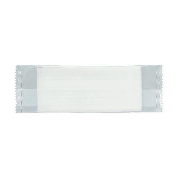 TANOSEE パルプ不織布おしぼり平型 1200枚入(50枚×24P) 〔×10セット〕