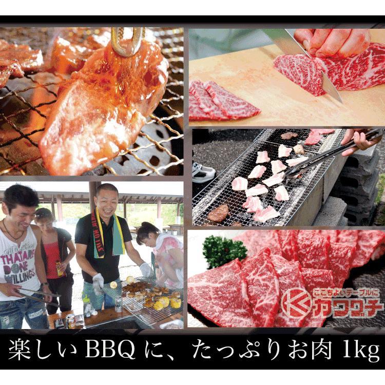 お歳暮 ギフト 焼肉 福袋 1kg   肉 3種盛 焼肉セット 国産牛 訳あり ハラミ 豚 カルビ バーべキュー kwgchi 08