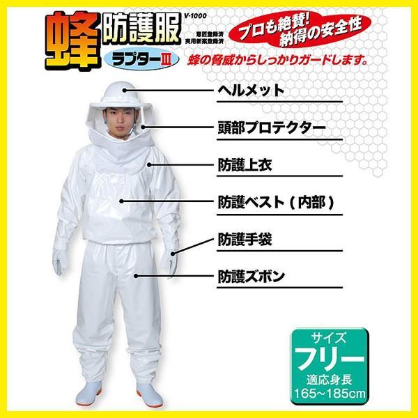 ハチ 駆除「蜂防護服ラプターIIIと蜂防護手袋セット」