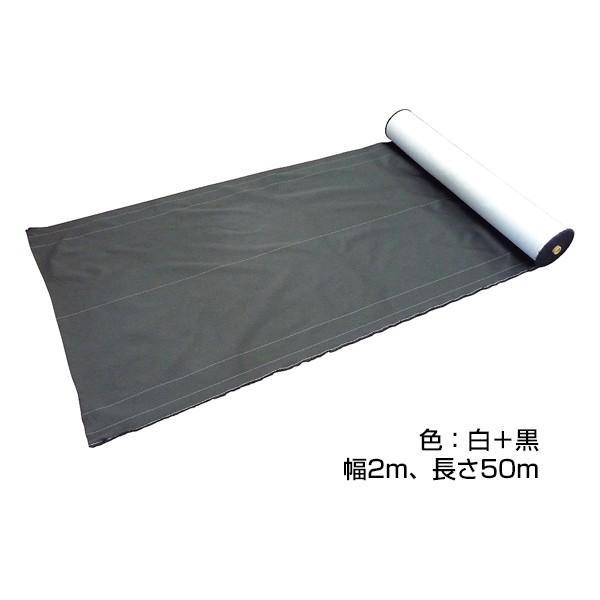 「防草シート グラスバスター(幅2m×長さ50m・カラー:白/黒)」