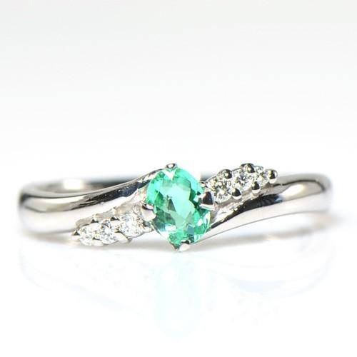 人気商品は リング パライバトルマリン ダイヤモンド プラチナ900 YK-AG005-1801 (HA-2563), Treasure-Store 4bfff42e