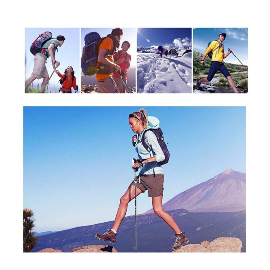 トレッキングポール 2本セット 折りたたみ式 伸縮式 軽量アルミ製 コンパクト 登山ストック アウトドア ハイキング ウォーキング|kyo5301130|13