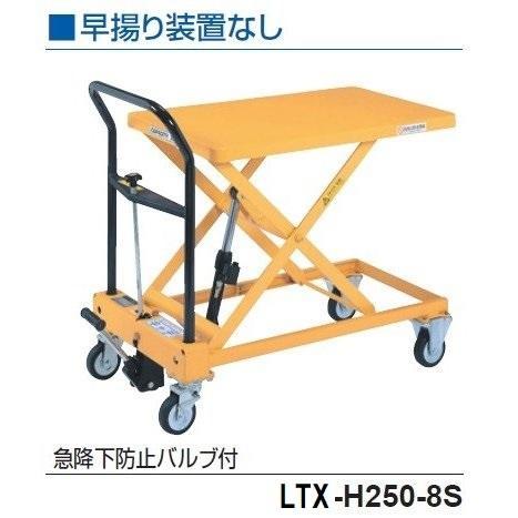 をくだ屋技研 手動式リフトテーブルキャデ LT−H250−8S