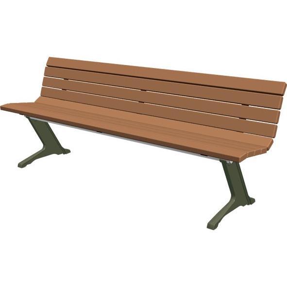 再生木材ベンチ (EMウッド/RPウッド) RB-210 (組立式)