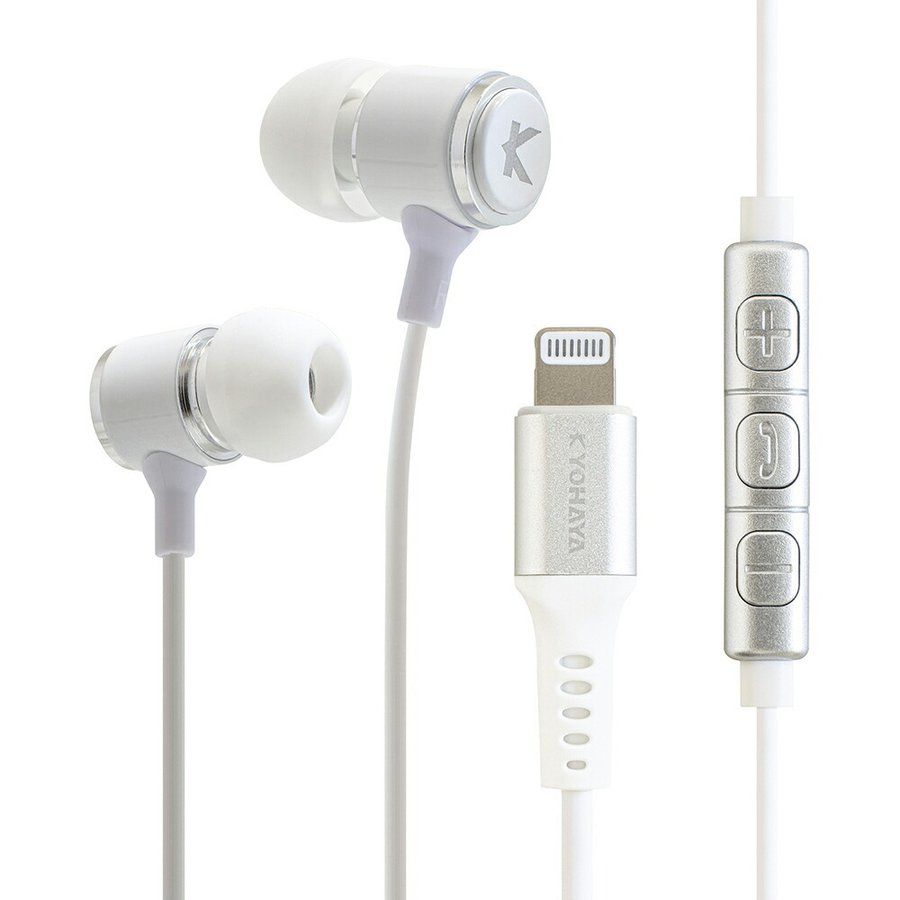 Lightning イヤホン カナル型 マイク付 高音質 有線 MFi認証品 リモコン付 通話可能 音量調節 iPhone 12 iPhone 11 iPad iPod 各種対応 SOUND GEAR EAR BASS L kyohaya 18
