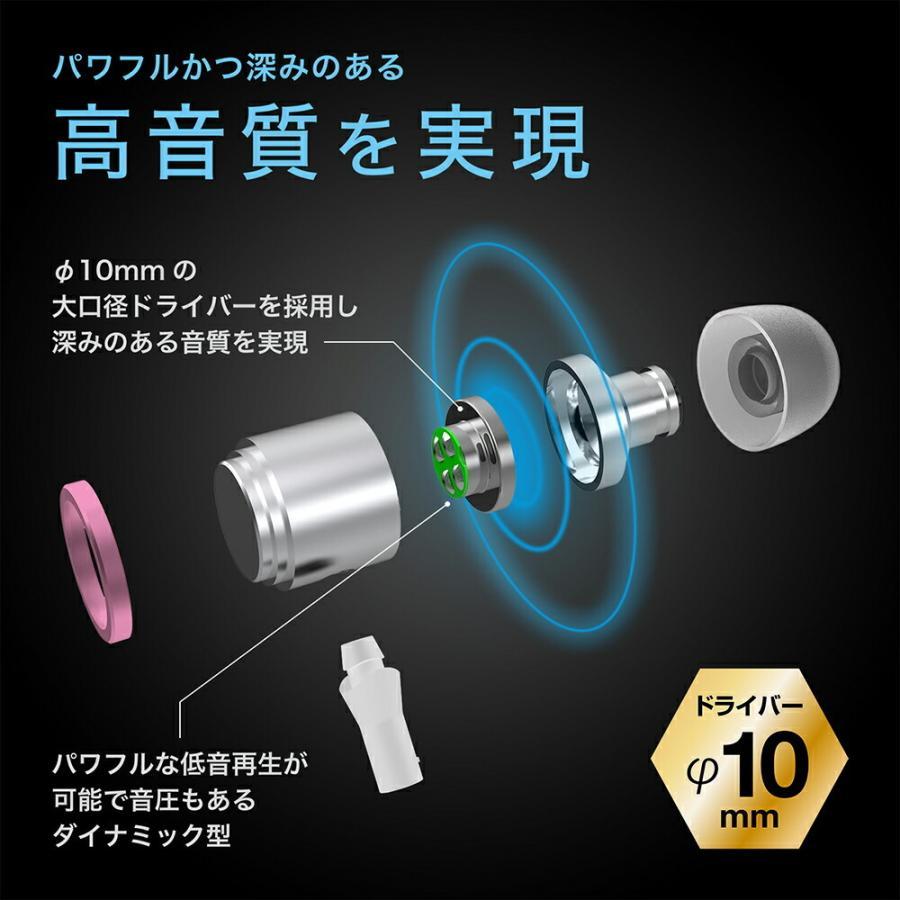 Lightning イヤホン カナル型 マイク付 高音質 有線 MFi認証品 リモコン付 通話可能 音量調節 iPhone 12 iPhone 11 iPad iPod 各種対応 SOUND GEAR EAR BASS L kyohaya 04