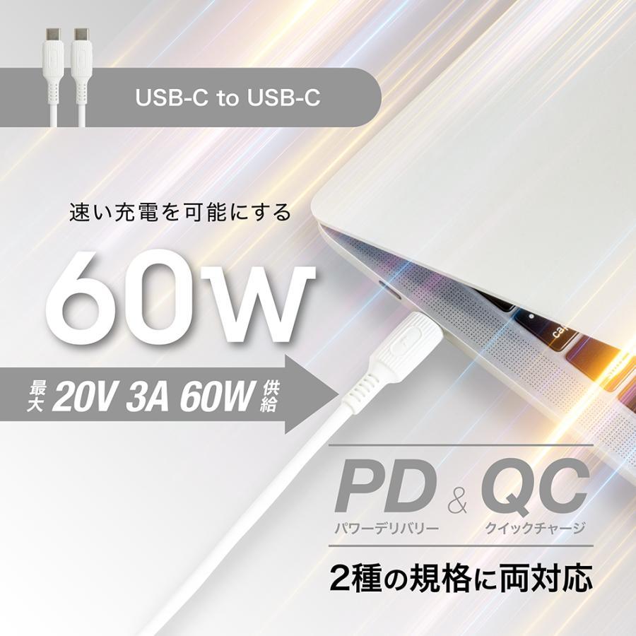 USB Type-C ケーブル シリコン 急速充電 PD QC 対応 A to C / C to C 選べるコネクター タイプc 対応 柔らかい Flexケーブル 1.2m KYOHAYA JKYC kyohaya 07
