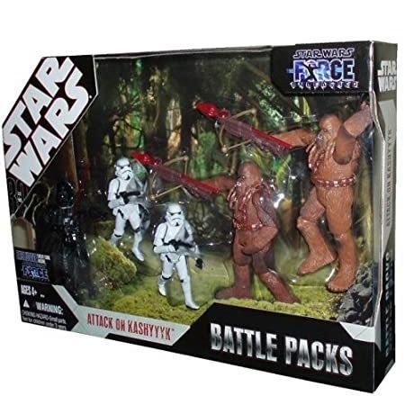 Star Wars 30th Anniversary Saga 2007 Exclusive Action Figure Battle Pack Attack on Kashyyyk
