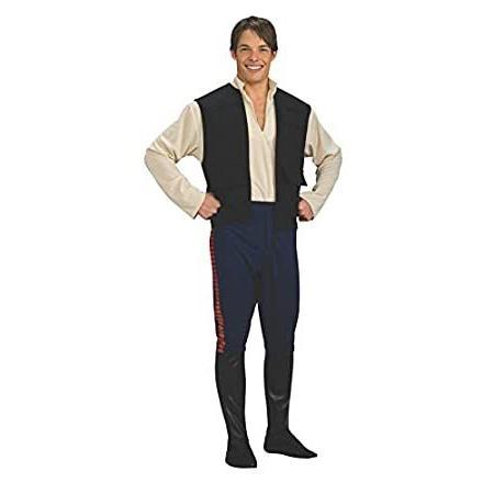 Star Wars Deluxe Hans Solo Costume, 黒/青, Standard