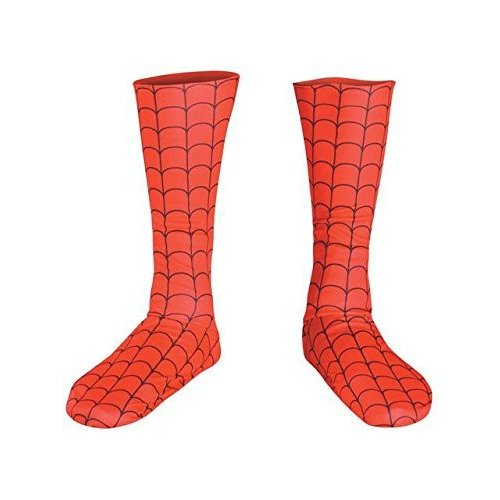 Disguise Men's Marvel Spider-Man Adult Boot Covers, 赤/黒, One Size