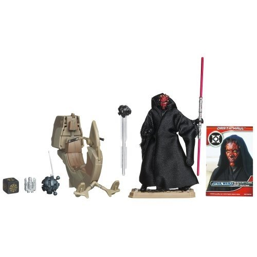 Star Wars Sith Speeder Vehicle with Darth Maul Action Figure 4 Inches