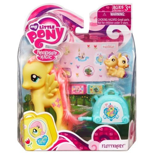 Hasbro My Little Pony Figure Fluttershy with Suitcase