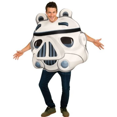 Angry Birds Star Wars Stormtrooper Adult Costume, 白い, One Size