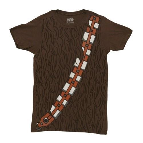 Star Wars I am Chewbacca Costume Adult 褐色 T-Shirt (Large)