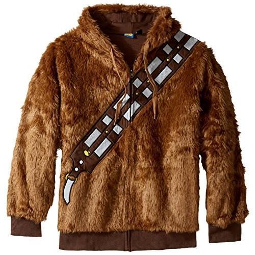 Star Wars Men's I Am Chewie Hooded Costume Fleece, 褐色, Medium