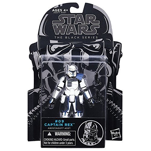 Star Wars, The 黒 Series, Clone Wars Captain Rex Action Figure #09, 3.75 Inches