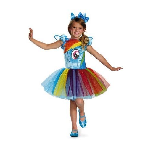 Disguise Hasbro's My Little Pony Rainbow Dash Tutu Prestige Girls Costume, X-Small/3T-4T